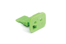 AW2S-C  2-Way Wedgelock Plug, C Key, Green. Comparable to parts #W2SC, 934481033
