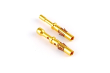 MS14M23F Socket Contact, Machined, Size 16, Gold Flash, Wire Range 2.0-2.5mm², 14AWG.  Compatible to part # RC14M30J