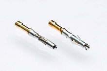 MS24W23F Socket Contact, Machined, Size 20, Gold Flash, Wire Range .13-.25mm² 26-24 AWG.  Compatible to part # RC24W3K