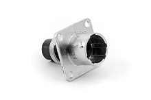 RT00102PNH Square Flange Receptacle, Male, 4 Contacts, Contact Sizes 16 & 20, Mixed 13A & 5A/350V, Shell Size 10