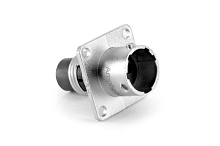 RT00104PNH  Square Flange Receptacle, Male, 4 contacts, 14-26AWG, 13A/300V, Shell Size 10.  Compatible to part # UT00104PH, 192990-1760,G2B104PN