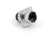 RT00123PNH  Square Flange Receptacle, Male, 3 Contacts, 14-26AWG, 13A/300V, Shell Size 12. Compatible to part # UT00123PH