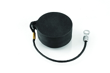 RT010RL Receptacle Dustcap with Nylon Cord, Made of Rubber, Shell Size 10