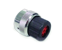 RT061609PNHEC Plug, Male with O-ring Seal and End Cap with Individual Rear Wire Seal,  Sizes 2.5mm & 16, 23A & 13A/350V