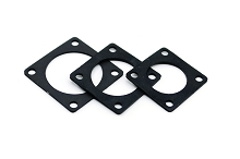 RTFD24B Square Flange Receptacle Gaskets, Shell Size 24, Thickness 1.0mm (±0.2).  Compatible to part # UTFD19B