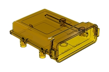 AIPXE-5X650B-E016  Ultem AIPX LARGE  Enclosure with/out Vent Hole, Amber