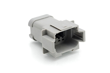 AT04-08PA-EC01  8-Way Receptacle, Male Connector with A Position Key and End Cap. Comparable to parts #DT04-08PA-E003, 934445212