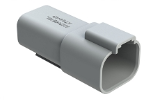 AT04-4P 4-Way Receptacle, Male. Compatible to part # DT04-4P