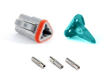 AT06-3S-KIT01 3-Way Socket Plug, Wedge and Contacts Kit