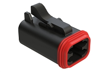 AT06-4S-BLK, 4-Way Plug, Female, Black. Compatible to part # DT06-4S-E004, DT06-4S-P012