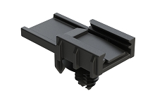 AT11-310-0205  Mounting clip for AT, ATM, ATP, ATHD Series, 2, 3, 4, 6, 12 positions connectors plastic, black, free stud mount. Comparable to PN# 1011-310-0205