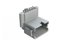ATF13-12PA-BM33  Board Mount Header, Right Angle, AT, 12 Pin, A-key, 3X Screw Boss, Extended height, Tin plate
