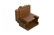 ATF13-12PD-BM31  Board Mount Header, Right Angle, AT, 12 Pin, D-key, 3X Screw Boss, Extended height, Gold plate