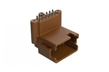 ATF13-12PD-BM33  Board Mount Header, Right Angle, AT, 12 Pin, D-key, 3X Screw Boss, Extended height, Tin plate