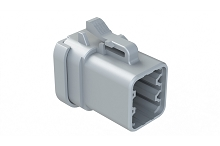 ATP06-6S-MM01  6-Way Plug, Female Connector with End Cap, Reduced Diameter Seal