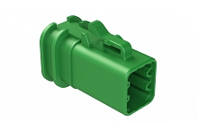 ATP06-6S-OMGRN  Overmold Compatible 6 Position Plug, Socket, Green