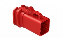 ATP06-6S-OMRDRED  Overmold Compatible 6 Position Plug, Socket, Reduced Diameter Seal, Red