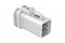 ATP06-6S-OMRDWHT  Overmold Compatible 6 Position Plug, Socket, Reduced Diameter Seal, White