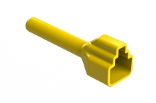 ATP2S-BT-YW  Boot for 2 Position Plugs, Yellow