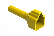 ATP4S-BT-YW  Boot for 4 Position Plugs, Yellow