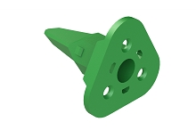 AW3S  3-Way Wedgelock Plug. Comparable to parts #W3S, W3S-P012, 934482003