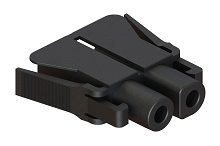 PL000728  4.0mm, Female Plug Housing for use with PL000729, PRM Series™
