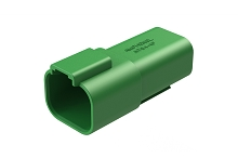 AT04-4P-GRN 4-way Receptacle, Female, green