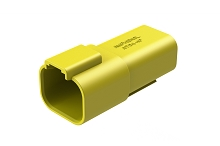 AT04-4P-YEL 4-way Receptacle, Male, Yellow