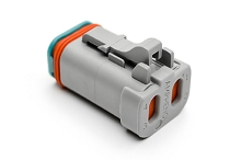 AT06-4S-SS01, 4-Way Plug, Female Connector with Solid Rear Grommet and Endcap, Wedgelock included. Compatible to part # DT06-4S-C017