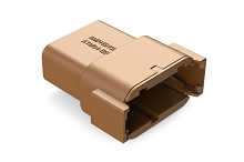 ATM04-12PD 12-Way Receptacle, D Position, Brown.  Comparable to PN #DTM04-12PD