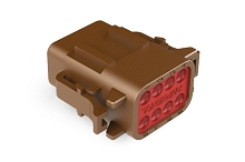 ATM06-08SD 8-Way Plug, Female, D Position Key.  Comparable to PN #DTM06-08SD