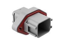 ATV02-18PA-RR01 18 position flange mount receptacle, Size 16 contact, key A, double reduced seal