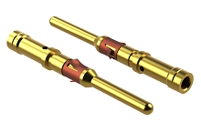 MP16M23F Pin Contact, Size 16, Machined, Gold Flash, Wire Range .75-1.5mm², 18-16 AWG.  Compatible to part # RM16M23J, 192991-0083