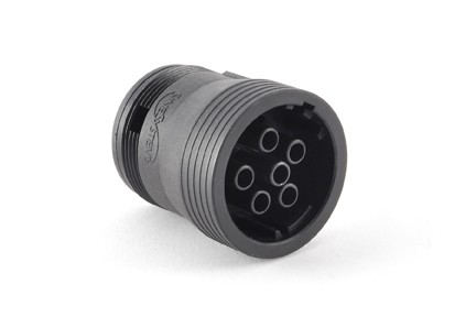 AHD16-6-12S 6-Position Plug, Female, Threaded Rear without Coupling Ring. Compatible to part # HD16-6-12S