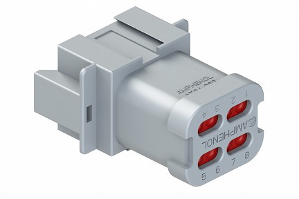 AT04-08PA-EC01 8-Way Receptacle, Male, End Cap. Compatible to part # DT04-08PA-E003