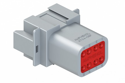AT04-08PA 8-Way Receptacle, Male, A Position Key. Compatible to part # DT04-08PA