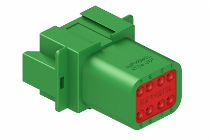 AT04-08PC 8-Way Receptacle, Male, C Position Key. Compatible to part # DT04-08PC