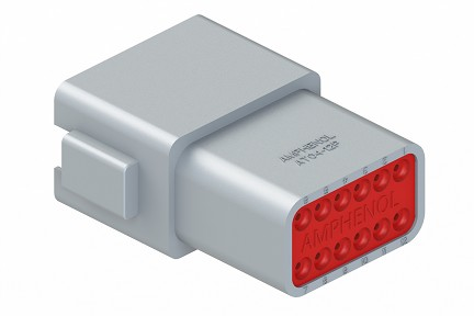 AT04-12PA 12-Way Receptacle, Male, A Position Key, Extended Shroud. Compatible to part # DT04-12PA