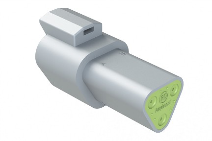 AT04-3P-RD01 3-Way Receptacle, Male, Reduced Diameter Seal (E-Seal). Compatible to part # DT04-3P-C015