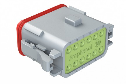 AT06-12SA-RD01 12-Way Plug, Female, A Position Key, Reduced Diameter Seal (E-Seal). Compatible to part # DT06-12SA-C015