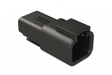 ATP04-2P-BLK 2-Way Receptacle, Male, Black. Compatible to part # DTP04-2P-E004
