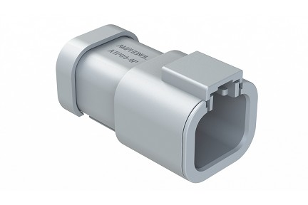 ATP04-4P-EC01 4-Way Receptacle, Male with End Cap. Compatible to part # DTP04-4P-E003