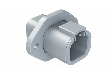 ATP04-4P-PM01 4-Way Receptacle, Male Flange. Compatible to part # DTP04-4P-L012
