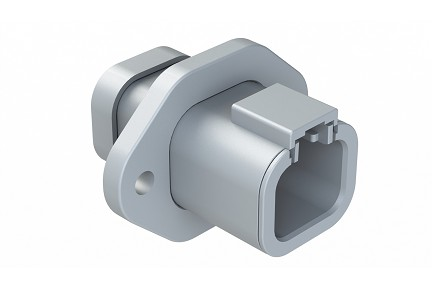 ATP04-4P-PM02 4-Way Receptacle, Male Flange with End Cap. Compatible to part # DTP04-4P-LE07