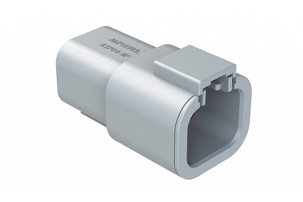 ATP04-4P-RD01 4-Way Receptacle, Male, Reduced Diameter Seal. Compatible to part # DTP04-4P-C015