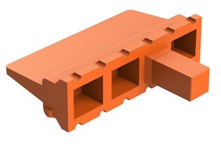 AWM-12P 12-Way Wedgelock Receptacle.  Comparable to PN #WM-12P