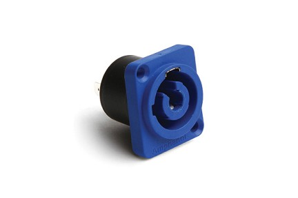 HP-3-MDW PLASTIC CHASSIS SCREW  BLUE  3 POLE WITHOUT DIVIDER (power in) Compatible to part # NAC3MPA-1-WOT