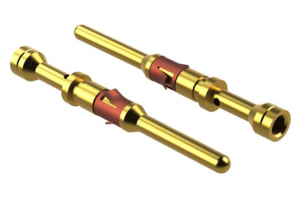 MP24M23G10 Pin Contact, Machined, Size 16, Gold 10µ