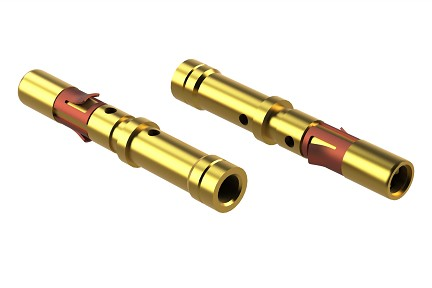 "MS16M23G5 Socket Contact, Size 16, Machined, Gold 5µ"", Wire Range .75-1.5mm², 18-16 AWG"