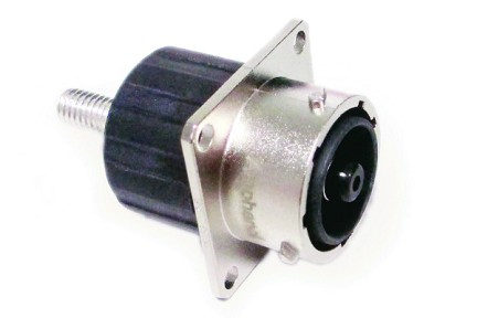 RTHP0201PN-M1 10mm Square Flange Receptacle, Male, High Amperage, Screw Tail, Shell Size 20